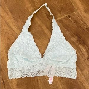 Pink Victoria's Secret halter lace bra